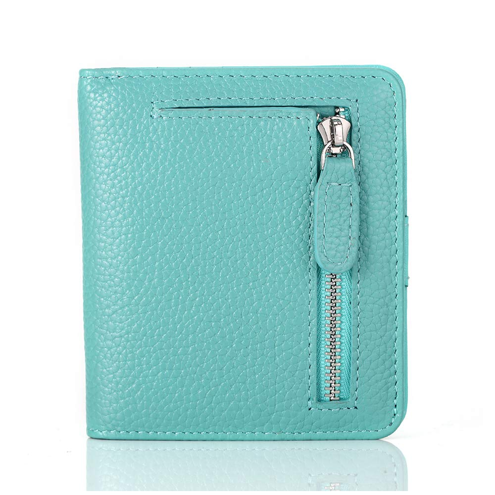 FUNTOR Leather Wallet for women Ladies Small Compact Bifold Pocket RFID Blocking Wallet for Women