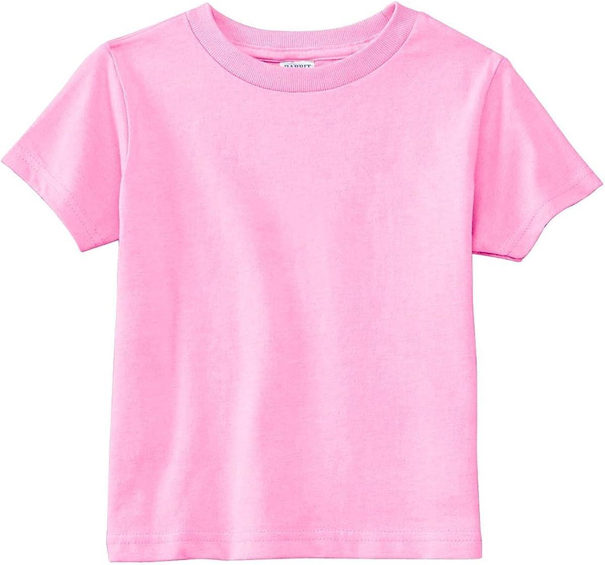 Rabbit Skins Infant Needle Sleeve Bottom Cotton Ribbed Crewneck T-Shirt 3301J