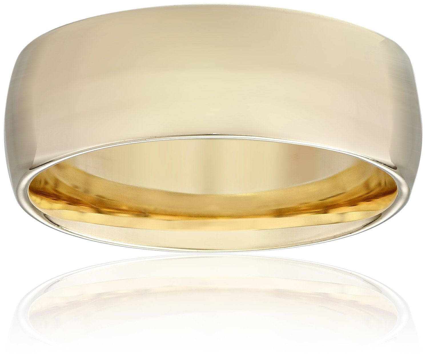 Standard Comfort-Fit 14K Yellow Gold Band, 8mm, Size 11.5
