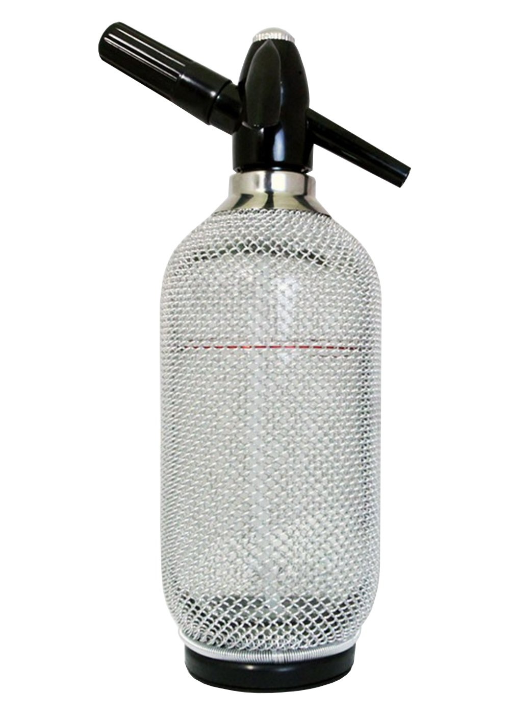 Premier Mixers Classic Glass Soda Siphon with Silver Mesh