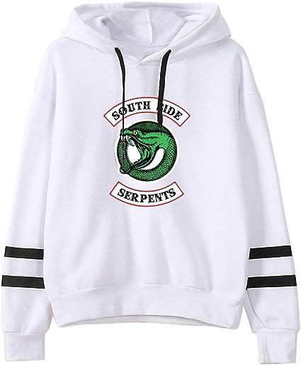 Imagen deHUASON Riverdale Hombre Mujer Sudadera con Capucha Serpiente Logo Sweatshirt Unisex Pullover de Moda Deportiva Streetwear