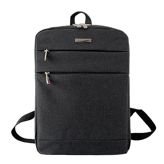 5579e37bdf Diamondo Men Canvas Laptop Backpack Zipper Waterproof Teen Casual Shoulder  Bag Black