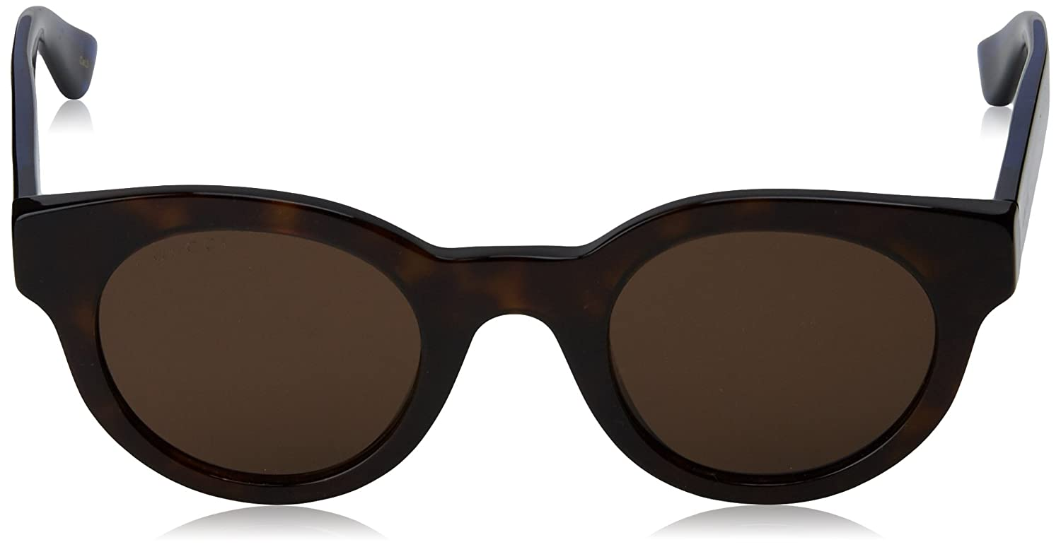 c2aab74bf90 Amazon.com  Gucci GG0002S-004-46 Blue Square Sunglasses  Gucci  Clothing