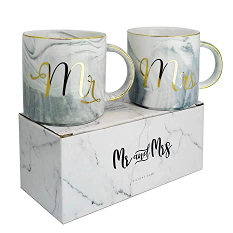 vilight mr mrs mugs set bridal shower engagement and wedding gifts anniversary coffee cups