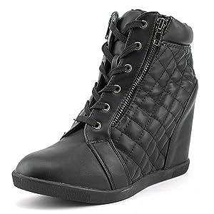 Madden Girl Baaxter Women US 7.5 Black Fashion Sneakers
