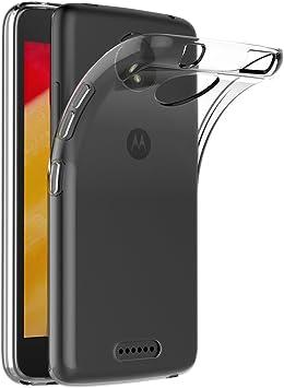 AICEK Funda Motorola Moto C Plus, Transparente Silicona Fundas ...