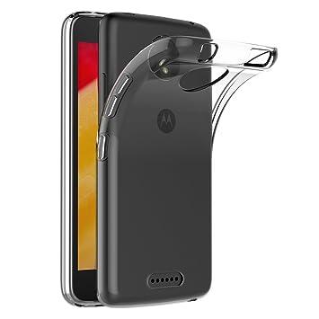 AICEK Funda Motorola Moto C Plus, Transparente Silicona Fundas para Moto C Plus Carcasa Silicona Funda Case