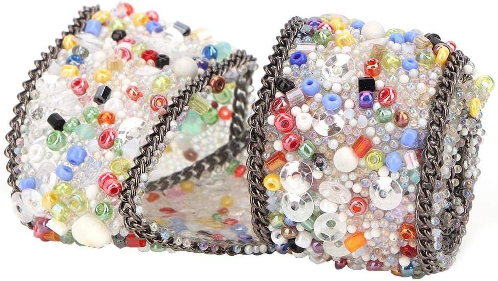 DIY K/ünstliche Diamant Mesh Wrap Roll Chain Trim Banding Applique f/ür Hochzeit Blumenarrangements HEEPDD 2,5 cm Kristall Strass Band #01