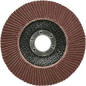 10 pieza Disco de láminas (125 mm, grano 60 compartimentos lija marrón de láminas