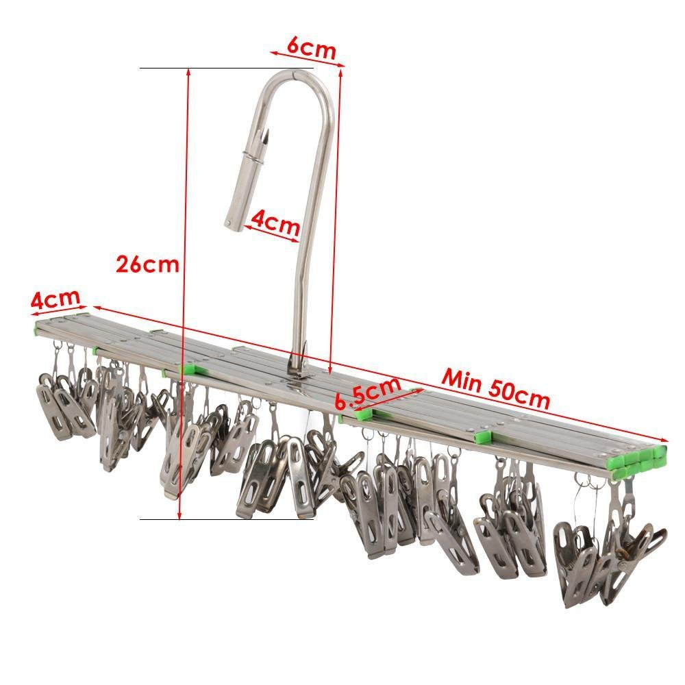 Yaheetech Mini-W/äschespinne W/äscheklammern mit 35 Clips aus Edelstahl bis 5 kg