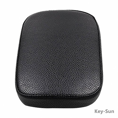 Black Pillion Pad Seat 8 Suction Cup Solo Rear Seat Passenger Saddle For Harley Dyna Sportster Softail Touring XL883 1200 48 (8) by Sunkey (Image #4)