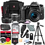 Canon EOS Rebel 77D DSLR Camera with EF-S 18-55mm f/4-5.6 IS Lens and DUMMIES Guide + Xpix Premium Travel Case, 64GB, Filters, Tripod, Flash, Remote, Deluxe Bundle
