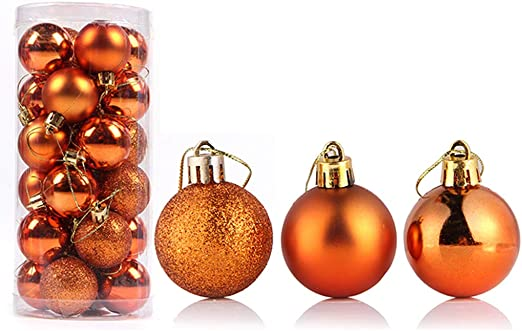 24Pcs Christmas Baubles 1.18 Plastic Xmas Tree Pendant Balls Home Party Decor Ornaments Silver