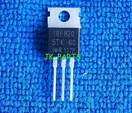 FidgetKute 50 x New IRF820 IRF820N Power MOSFET TO-220 IR Show One Size