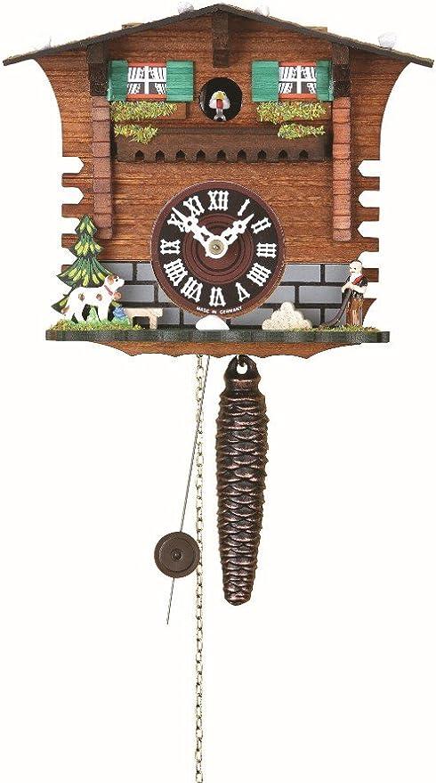 Danseurs tournants TU 2019 SQ Trenkle Kuckulino Pendulette en Miniature de la For/êt Noire Maison de la For/êt-Noire Maison Suisse avec Mouvement Quartz et Chant du Coucou