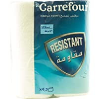 Carrefour Multi Purpose Towel 90 Sheet 2 Ply Rolls x Pack of 4