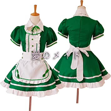 Amazon.com: DHLink Cosplay Maid Dress Japanese Anime ...