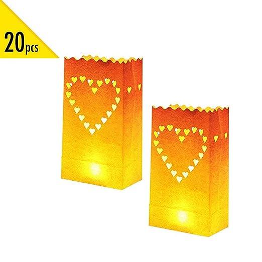 Watooma Blanca Lumi Nary Bags Linternas de Papel Decorativa ...
