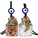 Zodiac Aries Angel Wings Small Car Charms or Home Decor Gem Bottles Carnelian Quartz Birthstone Amulets