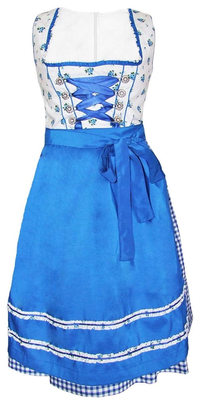 Fuchs Trachten Dirndl Valerie - Blau 60cm - Romantisches Dirndl für Damen