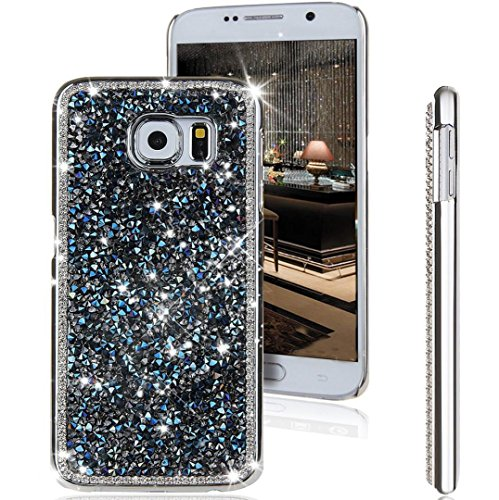 Galaxy S7 Case,Jesiya New Luxury Sparkle Powder 3D Diamond Bling Hard PC Shiny Slim Glitter Case Cover For Samsung Galaxy S7