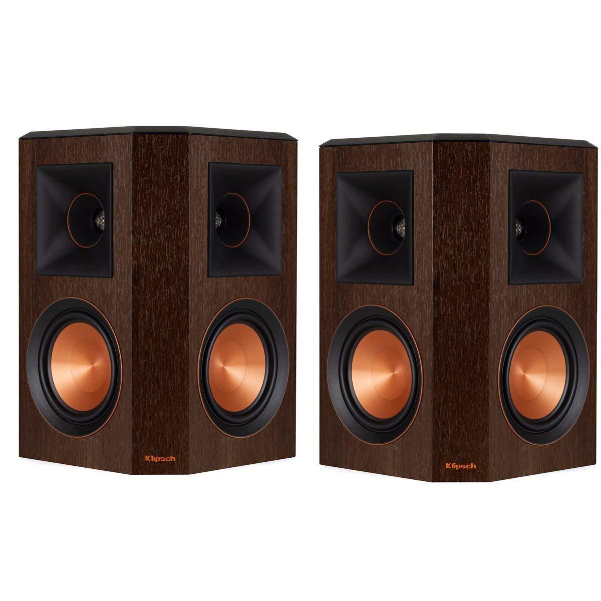 Klipsch Surround Sound >> Klipsch Rp 502s Surround Sound Speakers Pair Walnut