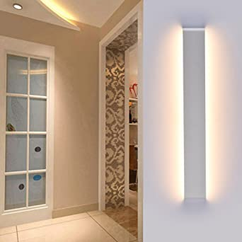 Ralbay Aplique Pared LED Interior Diseño Moderno Cómodo 24W Blanco Cálido 2700~3000K, AC110-220V, IP 44, Decoración para Salon Pasillo Escalera Dormitorio Baño: Amazon.es: Iluminación
