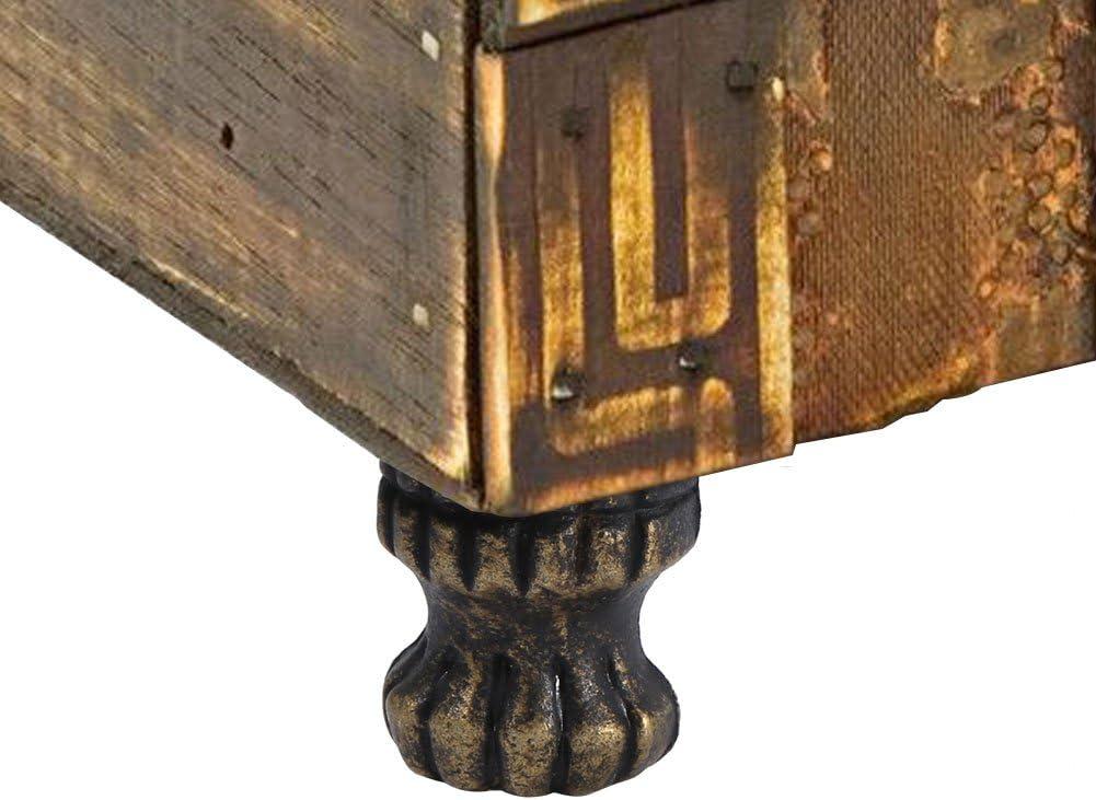 4pcs Antique Brass Jewelry Chest Wood Box Decorative Feet Leg Corner Protector Hardware