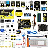 KEYESTUDIO for Arduino Uno Starter Kit with PIR Motion Sensor, HC-SR04 Ultrasonic Sensor, 5V Relay, RC522 RFI, IR Remote, 8x8 LED Matrix etc