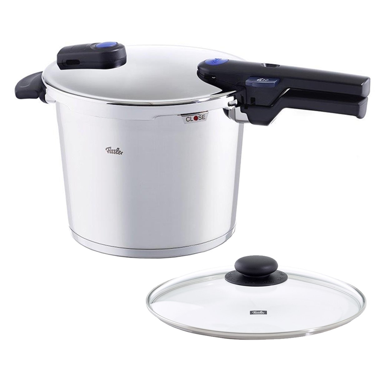 Fissler 6.4 quart Vitaquick Pressure Cooker with Glass Lid Set