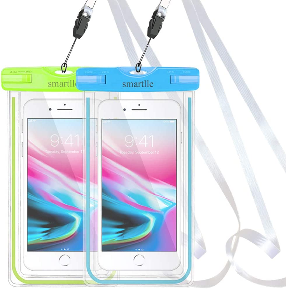 2 Pack IPX8/Dry Bag Cellphone Case for iPhone 11/Pro Max Xs Max XR X 8 7 6S Plus Pixel 4 XL up to 7 Universal waterproof phone pouch Galaxy S20 Ultra S20+ S10 Plus S10e S9 Plus S8//Note 10+ 9