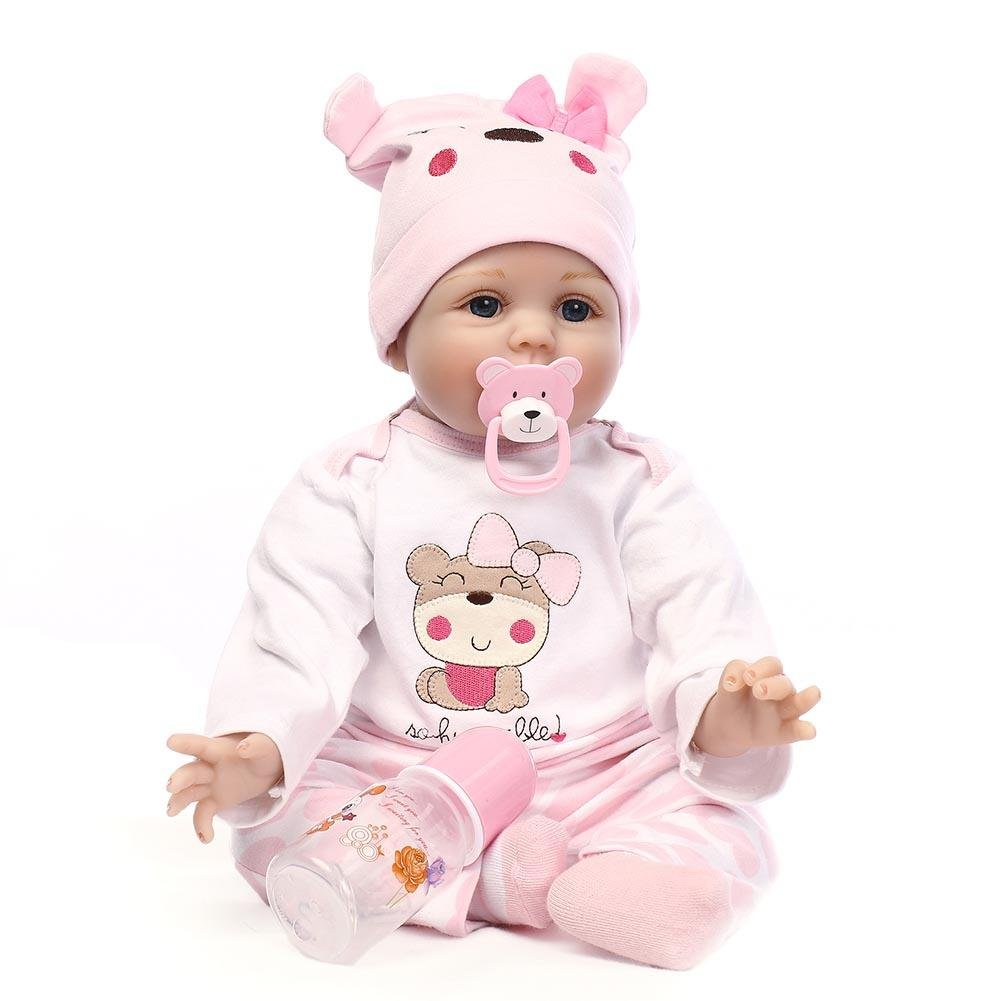 Lifelikeリアルな赤ちゃん人形Reborn DollsシミュレーションReborn Girl Doll Toyソフトシリコン新生児赤ちゃんPlaymate人形domybest   B07BS7WTMN