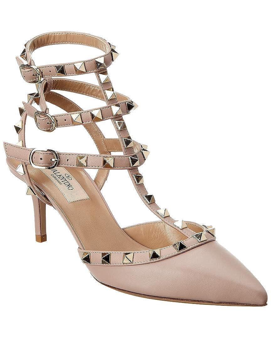 Amazon Com Valentino Rockstud Cage 65 Leather Ankle Strap Sandal