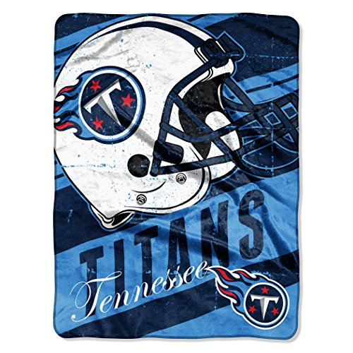 Tennessee Titans Blanket - The Northwest Company Officially Licensed NFL Tennessee Titans Deep Slant Micro Raschel Throw Blanket, 46