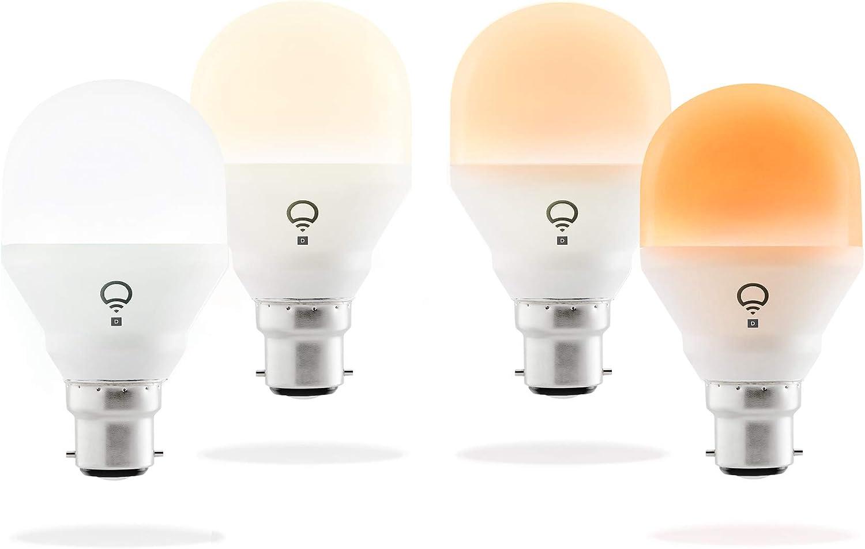 LIFX HB4L3A19MTW08B22 Day & Dusk Mini Ampoule LED, Verre, B22, 9 W,...