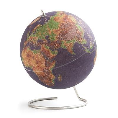 Suck UK LARGE DESKTOP CORK PUSH PINS INCLUDED | EDUCATIONAL WORLD MAP | TRAVEL ACCESSORIES | ADVENTURE & MEMORIES DISPLAY | Globe, Multicolour: Home & Kitchen
