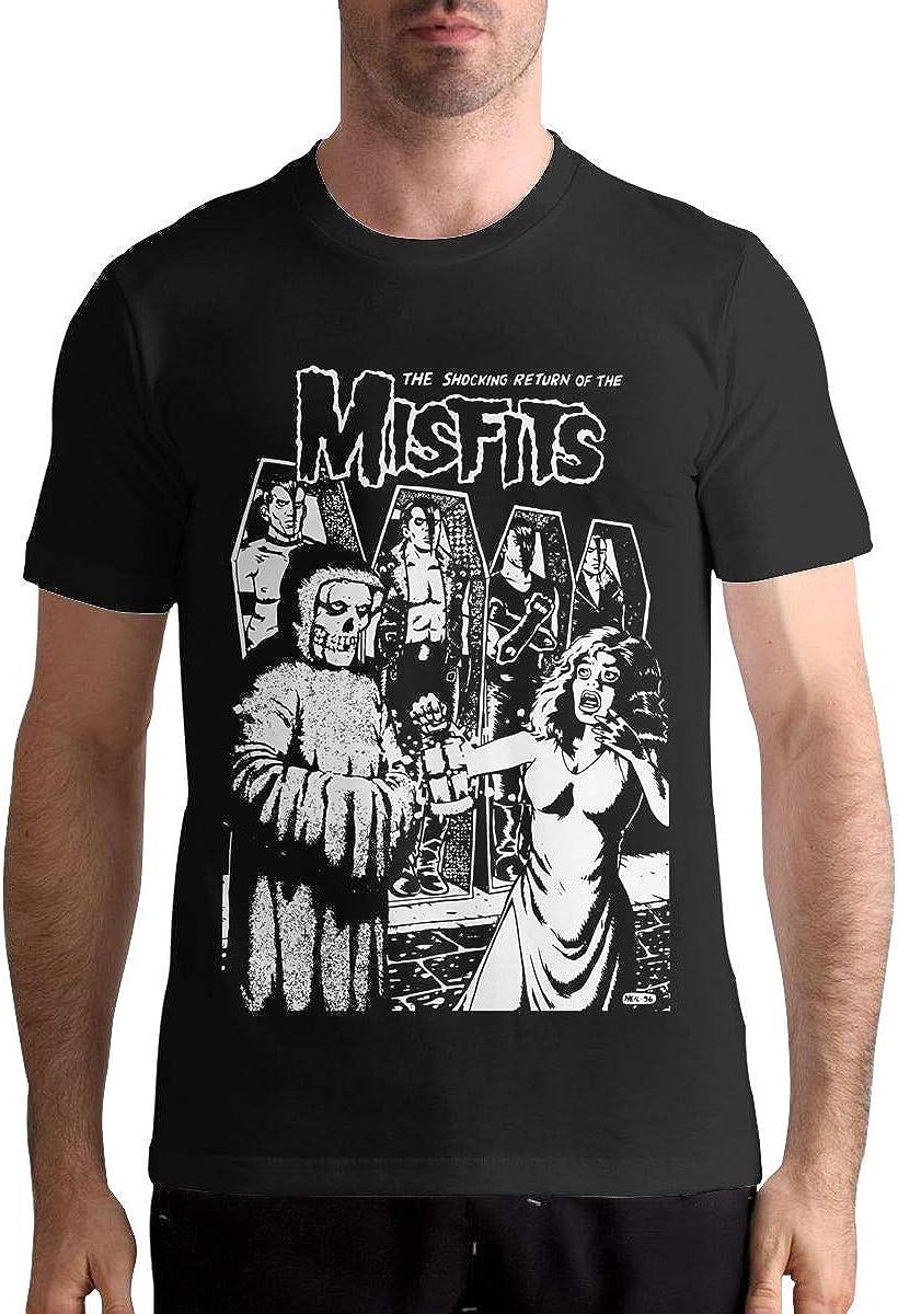 Man The Shocking Return of The Misfits Shirt Summer Vintage Short Sleeve T Shirt Black