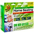 Duck Home Sealing Starter Kit Covers 5 Windows 6 Sockets Bonus Weatherstripping Seal