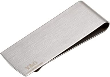 Black Mens Stainless Steel Money Clip