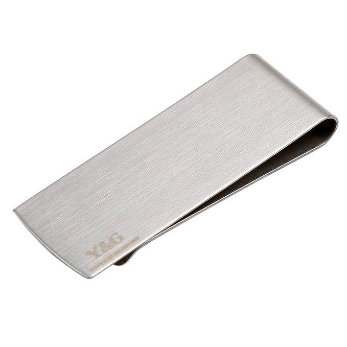 Stainless Steel Slim Money Clip Purse Wallet Credit Card ID Cash Holder Fashion