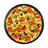 WRKAMA Black Cordierite Ceramic Pizza Stone 15'' for Big Green Egg Cooking & Baking Pizza & Bread Oven, Grill or Outdoor Bracket Accessories Pampered Chef Pizza Stone
