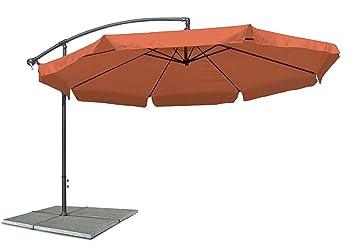 Sonnenschirm Ampelschirm Terracotta Verstellbar Mit Kurbel