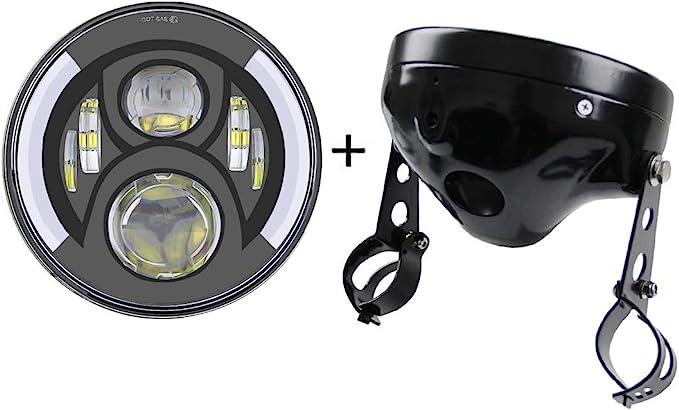 7 Zoll Runde Led Scheinwerfer Blinker Mit 7 Zoll Lampe Gehäuse Eimer Für Motorrad Harley Davidson Auto