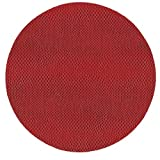 Round Placemats Table Mats Thanksgiving Placemats Christmas Placemats Faux Red Leather Pk 6