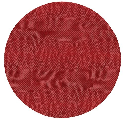 Round Placemats Table Mats Thanksgiving Placemats Christmas Placemats Faux Red Leather Pk 6 by Caspari