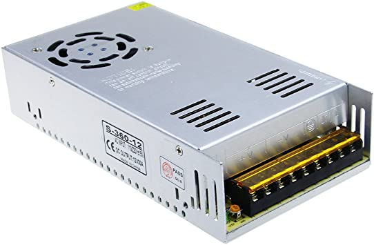 Regulated Transformer Power Supply For LED Strip DC12V 30A 360W US Fast Shipping