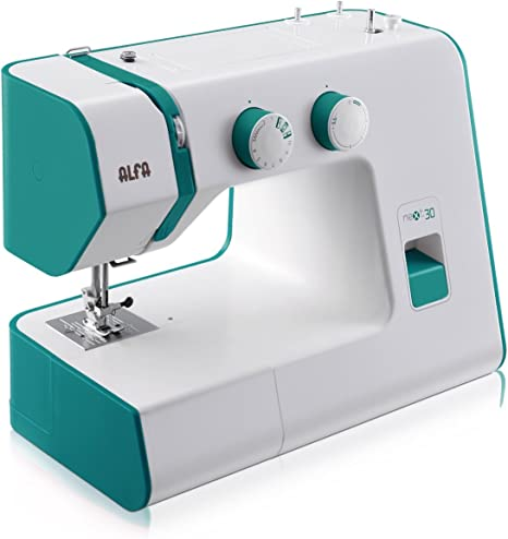 Alfa NEXT30 Spring - Máquina de Coser, Color Verde Esmeralda ...
