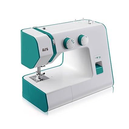 Alfa NEXT30 SPRING - Máquina de coser, color verde esmeralda [Versión con enchufe de