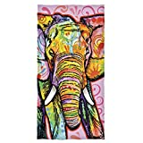 Dawhud Direct Cotton Beach Towel by Dean Russo (Elephant)