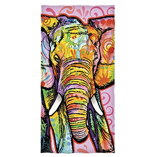 Dawhud Direct Cotton Beach Towel by Dean Russo (Elephant) (Beach Elephant)